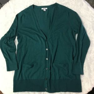 Old Navy Teal Cardigan Sweater 2X w/pockets